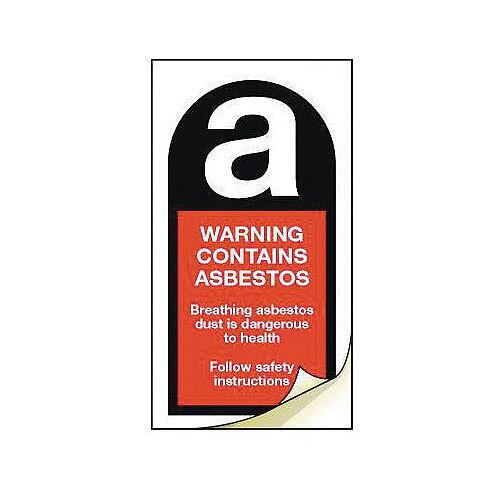 Asbestos Safety Labels Warning Contains Asbestos Strip Of 100