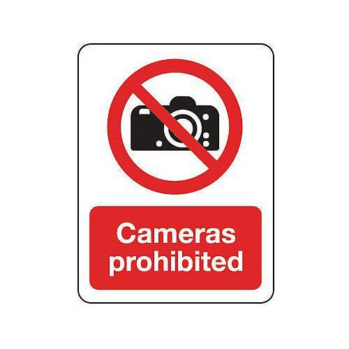 Self Adhesive Vinyl General Prohibition Sign Cameras Prohibited