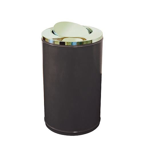 High Capacity Self Closing Litter Bin Black 120L
