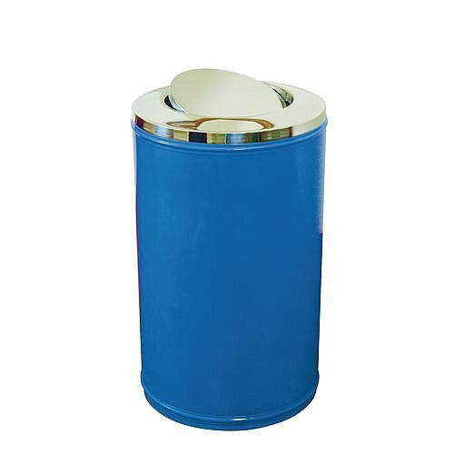 High Capacity Self Closing Litter Bin Blue 120L