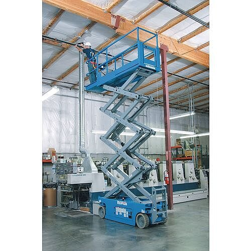 Self Propelled Scissor Lifts Steel Platform Height 5.79m Blue