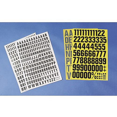 White Numbers And Letters H 23mm 17X 23456789 &31X 01