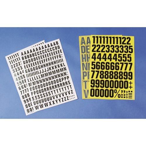 White Numbers And Letters H 23mm 2xXY 3xQW 5xKP 6xBH 7xDFGLV 8xCMSU 9xRT 12xANO 21xE 4xJZ 16xI