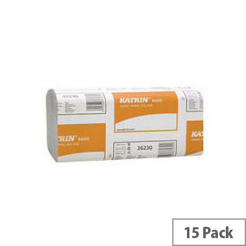 Z Folded 1 ply Paper Hand Towels 266 Towels Per Sleeve 15 Sleeves White  (3990 Sheets)