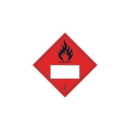 Sign Placard Flammable 2 250X250 Vinyl