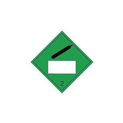 Sign Placard Compressed Gas 250X250 Vinyl