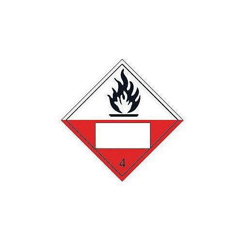 Sign Placard Flammable 4 250x250 Vinyl