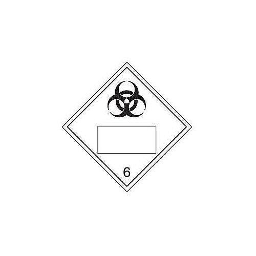 Sign Placard Biohazard 250x250 Vinyl