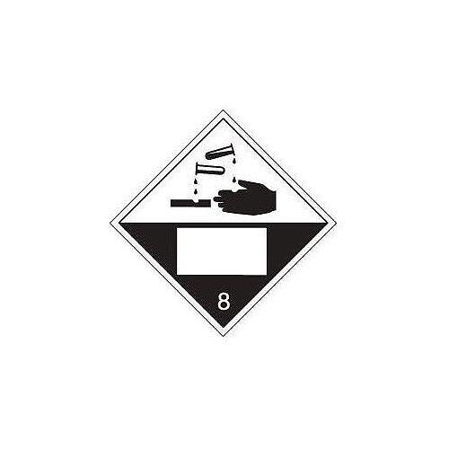 Sign Placard Corrosive 250x250 Vinyl