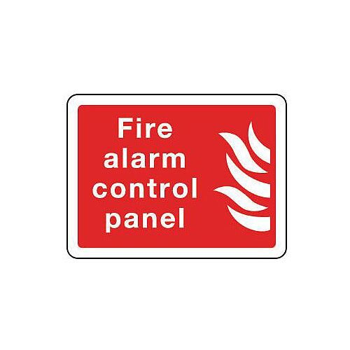 Self Adhesive Vinyl Fire Alarm Control Panel Sign