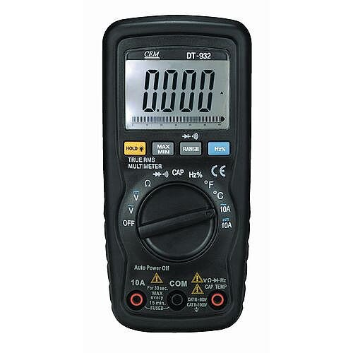 Auto Ranging Digital Multimeter With Soft Zip Carry Pouch 2 Test Leads And Battery