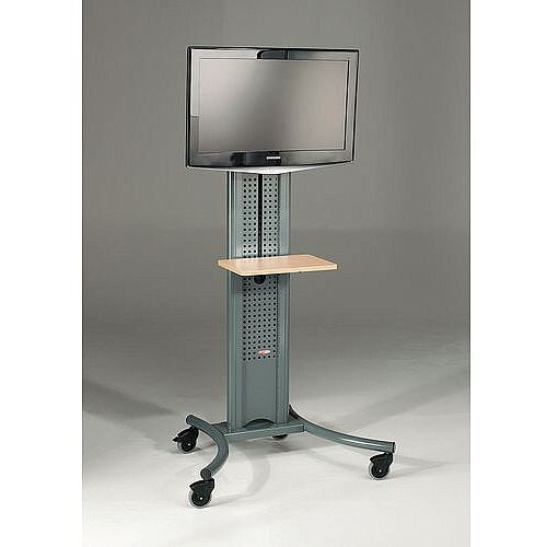 LCD And Plasma Mobile Stand Mobile Stand With TV Mount Dark Grey