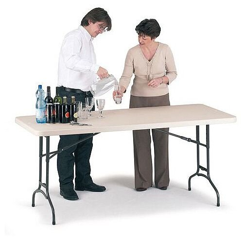 Polyfold Height Adjustable Folding Table L 1830mm