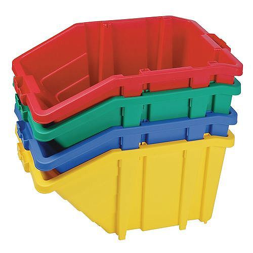 Large Storage Bin Complete With Opening Lid Sold Singly Choice Of Four Colours Red