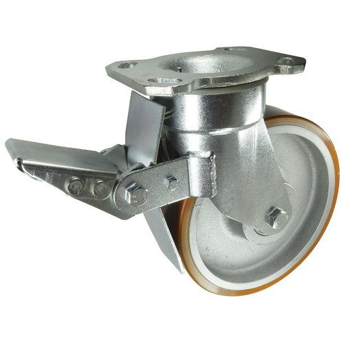 Cast Iron Centre, Polyurethane Tyred Wheel, Heavy Duty Load Capacity 1200kg