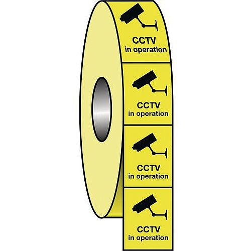 Cctv Labels Roll of 100