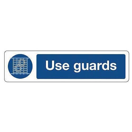 Aluminium Mini Mandatory Safety Sign Use Guards