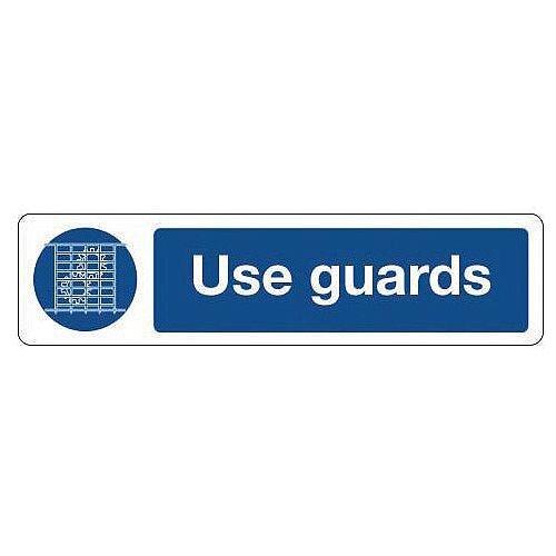 Rigid Plastic Mini Mandatory Safety Sign Use Guards