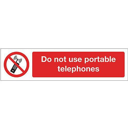 Rigid Plastic Mini Prohibition Sign Do Not Use Hand Held Mobile Phones Whilst Driving