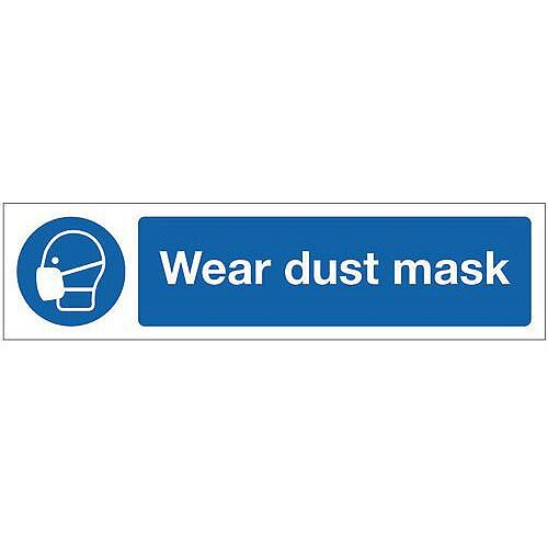 Vinyl Mini Mandatory Safety Sign Wear Dust Mask