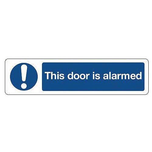 Vinyl Mini Mandatory Safety Sign This Door Is Alarmed