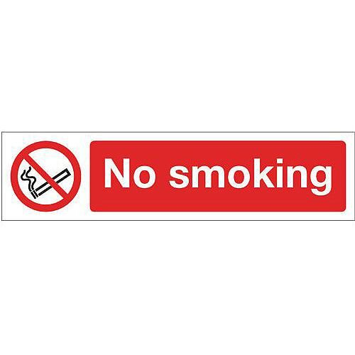 Vinyl Mini Prohibition Sign No Smoking