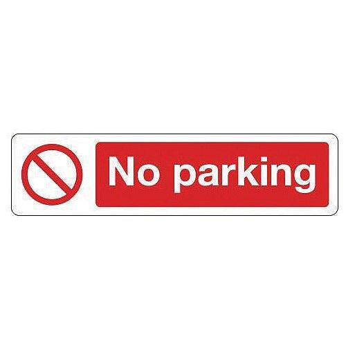 Vinyl Mini Prohibition Sign No Parking 200 x 50mm