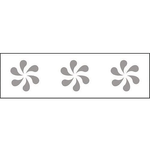 Glass Awareness Sign Frosted Flower Vinyl Image
