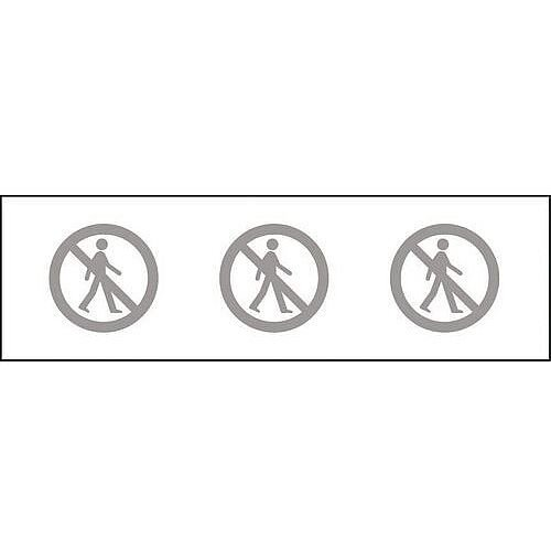 Glass Awareness Sign Frosted No Entry Vinyl Image