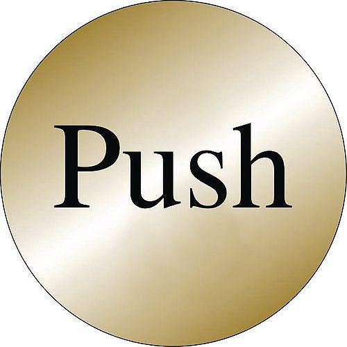 Prestige Range Sign Push Brass Effect