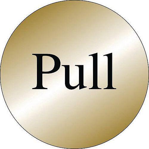 Prestige Range Sign Pull Brass Effect