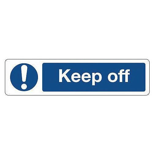 PVC Mini Mandatory Safety Sign Keep Off