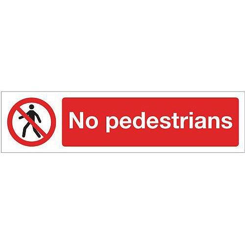 Aluminium Mini Prohibition Sign No Pedestrians