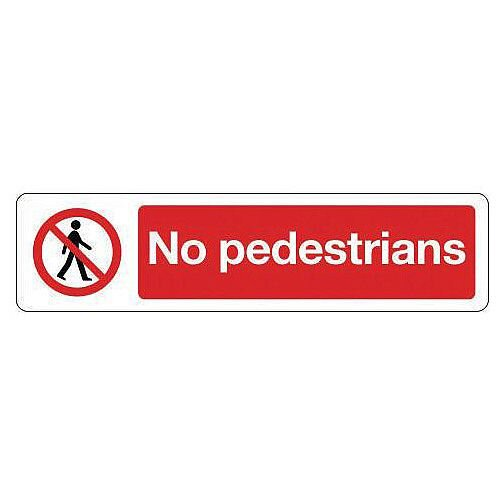 Rigid Plastic Mini Prohibition Sign No Pedestrians