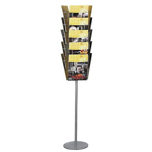 Static Literature Display Floor Stand 15 X A4 Pockets