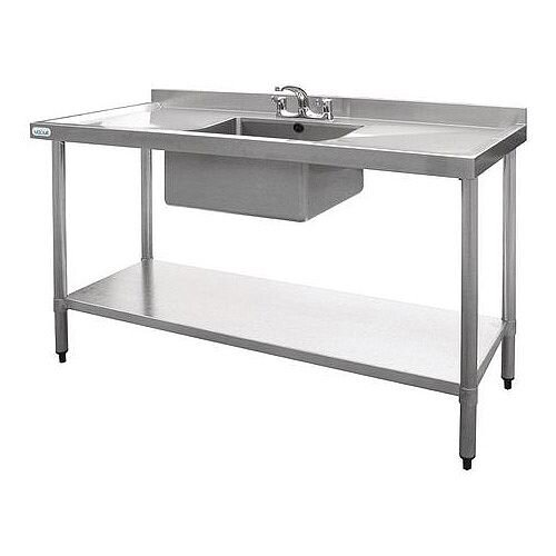 Stainless Steel Sink Kits - Single Sink With Double Drainer