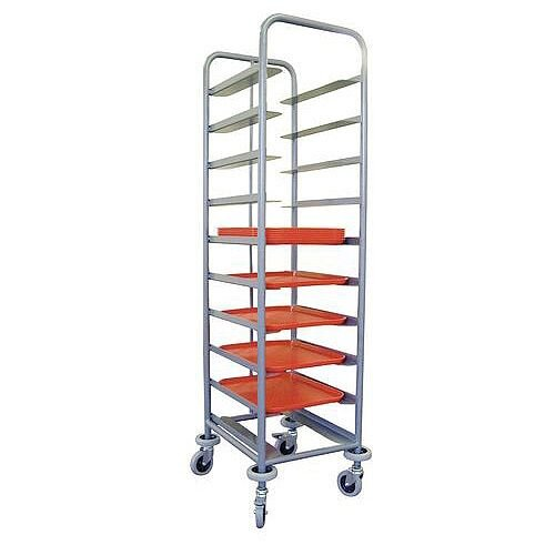 Tray Clearing Trolley Single Tower 10 Trays