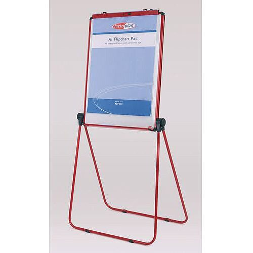 Ultimate Double-Sided Flipchart Easel And Whiteboard Red