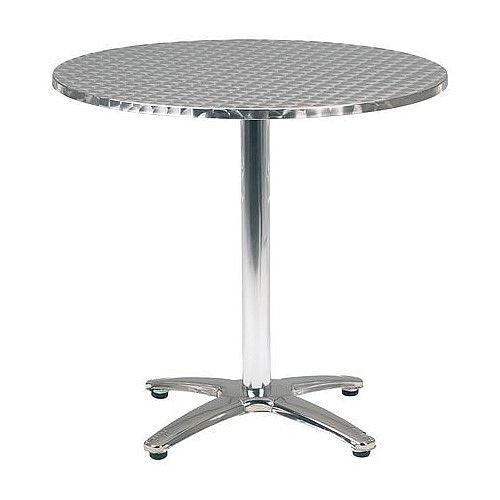 Aluminium Bistro Circular Pedestal Table