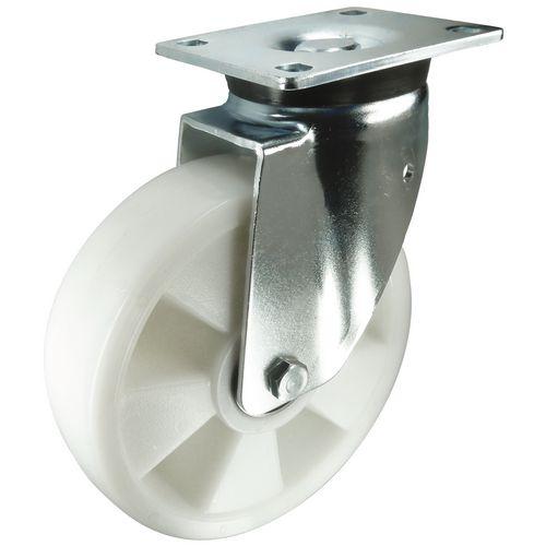 Ball Bearing Nylon Wheel, Heavy Duty - Swivel Load Capacity 400kg