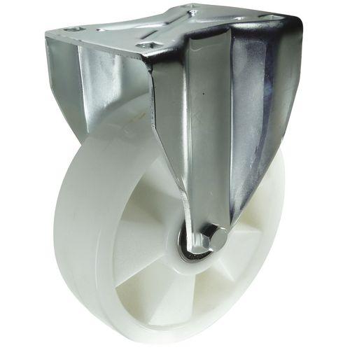 Ball Bearing Nylon Wheel, Heavy Duty - Fixed Load Capacity 300kg