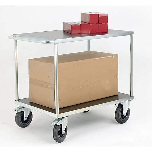 Electro Galvanised Two Tier Service Trolley Capacity 500kg