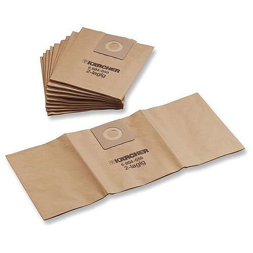 Karcher Commercial Quality Vacuum Cleaner Dustbags Pack of 10