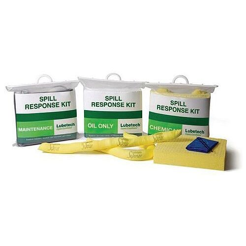 15L Clear Carrier Bag Spill Kit Oil Only