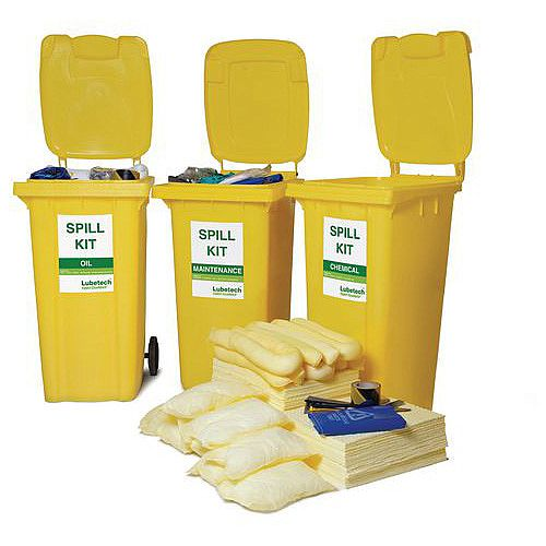 120L Wheeled Bin Spill Kit Oil Only