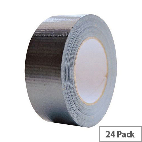 Cloth Tape 50mm X 50M Black Duct Tape Pack of 24