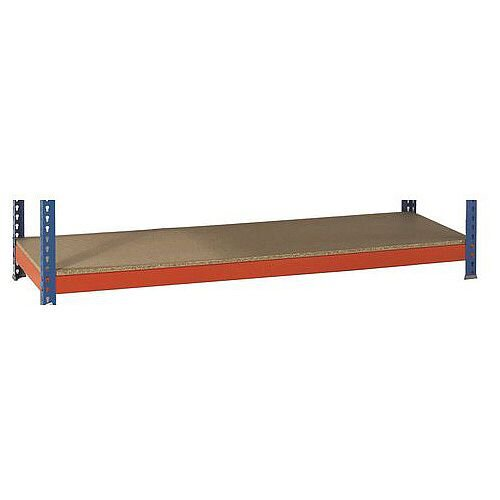 Extra Shelf For 2400mm Wide 600mm Deep Heavy Duty Boltless Chipboard Shelving 500Kg Capacity For SY379228 &SY379236