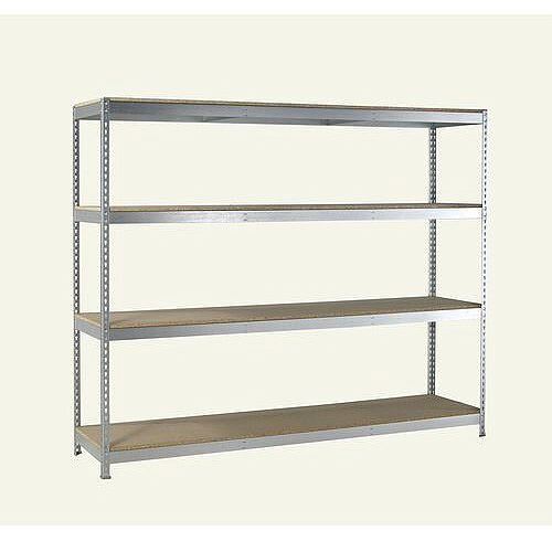 Heavy Duty Galvanised Shelving With Chipboard Shelves 2400mm Wide HxWxDmm 2000x2400x600