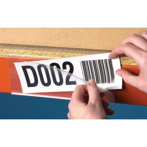 Self Adhesive Ticket Holder HxWmm 25x100 Pack of 100