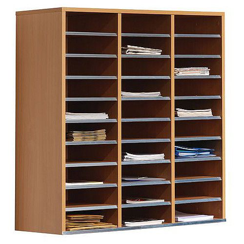 Beech Mail Sorting Furniture Table 30 Compartments